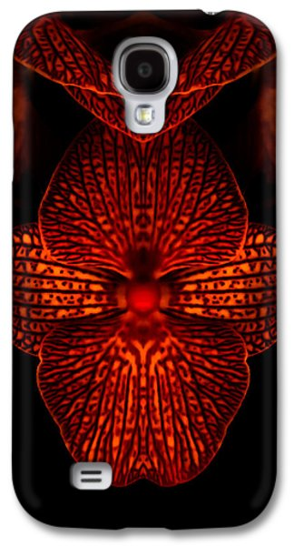 Abstract Digital Digital Galaxy S4 Cases - Red Hot Orchid Galaxy S4 Case by Heather Joyce Morrill