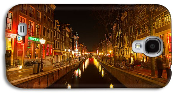Prostitution Paintings Galaxy S4 Cases - Red light district Galaxy S4 Case by Vision Fine   Art