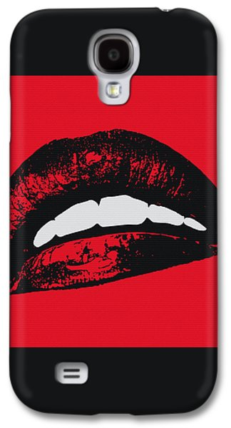 Red Lips Galaxy S4 Case by Edouard Coleman