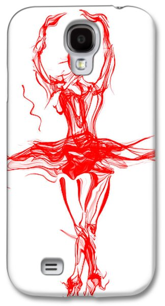 Red Lipstick Ballerina Twirling Galaxy S4 Case by Abstract Angel Artist Stephen K