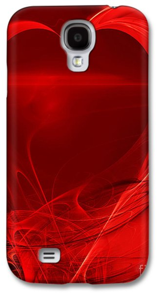 Algorithmic Digital Art Galaxy S4 Cases - Red Love . A120423.279 Galaxy S4 Case by Wingsdomain Art and Photography