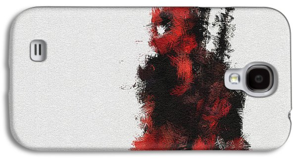 Character Portraits Galaxy S4 Cases - Red Ninja Galaxy S4 Case by Miranda Sether