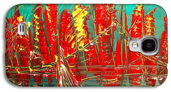 Waterscape Galaxy S4 Cases - Red Nyc Galaxy S4 Case by Mark Kazav