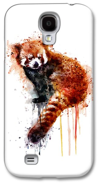 Square Format Digital Galaxy S4 Cases - Red Panda Galaxy S4 Case by Marian Voicu