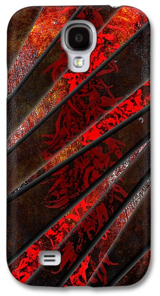 Abstract Digital Mixed Media Galaxy S4 Cases - Red Pepper Abstract Galaxy S4 Case by Svetlana Sewell