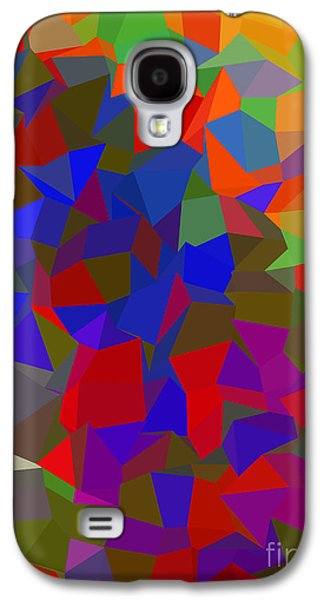 Colorful Abstract Galaxy S4 Cases - Red Poly Galaxy S4 Case by Anita Fugoso