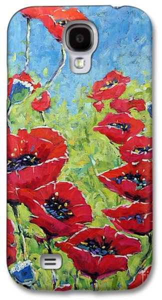 Canadiens Paintings Galaxy S4 Cases - Red poppies by Prankearts Galaxy S4 Case by Richard T Pranke