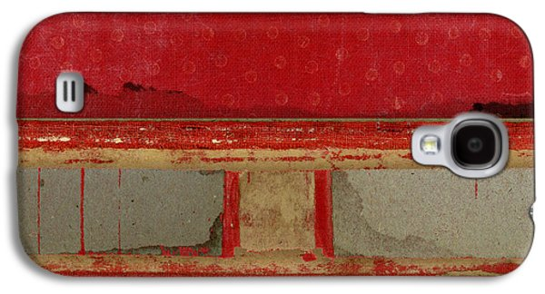 Red Riley Collage Square 2 Galaxy S4 Case by Carol Leigh