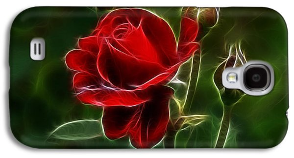 Indiana Flowers Galaxy S4 Cases - Red Rose and Buds Galaxy S4 Case by Sandy Keeton