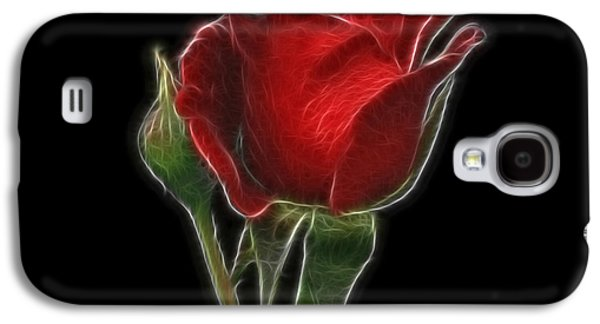 Indiana Flowers Galaxy S4 Cases - Red Rose II Galaxy S4 Case by Sandy Keeton
