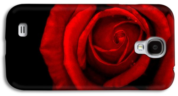 Abstract Nature Galaxy S4 Cases - Red Rose Galaxy S4 Case by Jijo George