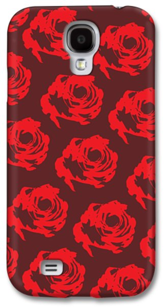 Red Rose Pattern Galaxy S4 Case by Cortney Herron