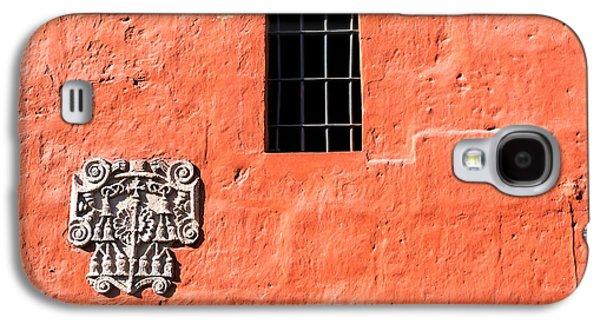 Catherine White Galaxy S4 Cases - Red Santa Catalina Monastery Wall Galaxy S4 Case by Jess Kraft