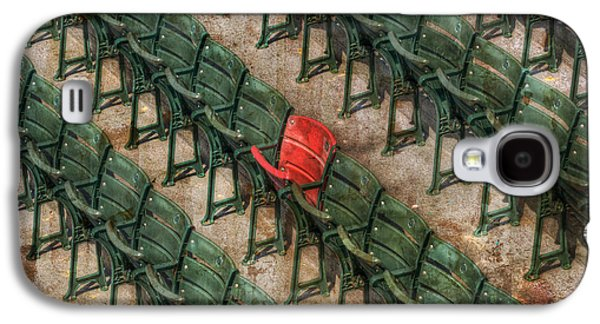 Red Sox Art Galaxy S4 Cases - Red Seat at Fenway Park - Boston Galaxy S4 Case by Joann Vitali