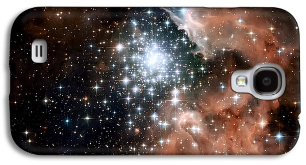 Red Smoke Star Cluster Galaxy S4 Case by The  Vault - Jennifer Rondinelli Reilly