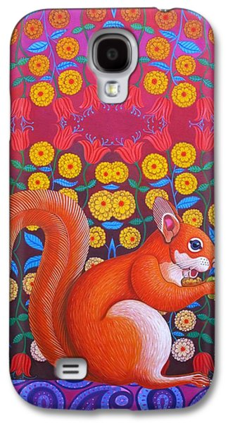 Red Squirrel Galaxy S4 Case by Jane Tattersfield
