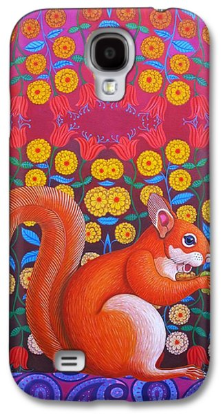 Claw Paintings Galaxy S4 Cases - Red Squirrel Galaxy S4 Case by Jane Tattersfield