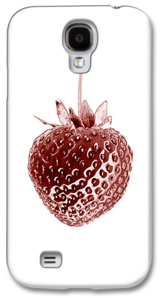 Botanical Galaxy S4 Cases - Red Strawberry Botanical Illustration Galaxy S4 Case by Frank Tschakert