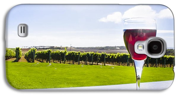 Red Wine Glass At Tasmania Countryside Winery Galaxy S4 Case by Jorgo Photography - Wall Art Gallery