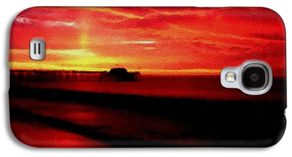 Abstract Digital Pastels Galaxy S4 Cases - Red Wine Sunset H A Galaxy S4 Case by Gert J Rheeders