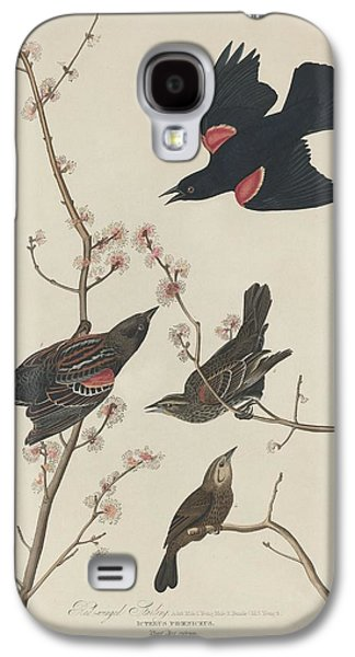 Red-winged Starling Galaxy S4 Case by John James Audubon