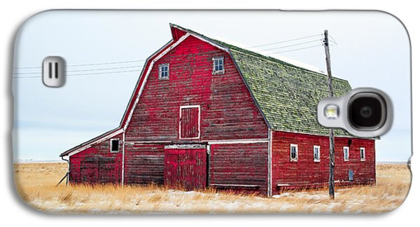 Red Winter Barn Galaxy S4 Case by Todd Klassy