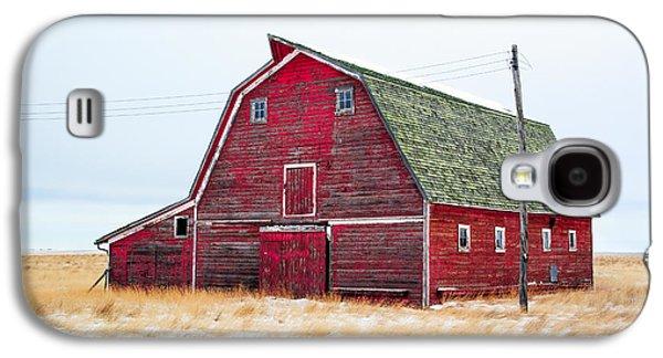Red Winter Barn Galaxy S4 Case by Todd Klassy