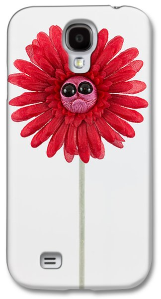 Floral Sculptures Galaxy S4 Cases - Red Worried Flower Galaxy S4 Case by Michael Palmer