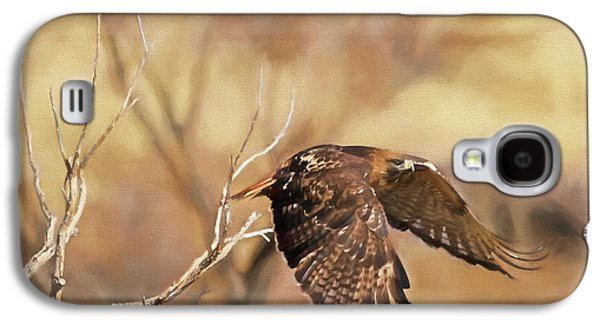 Redtail On The Move Galaxy S4 Case by Donna Kennedy