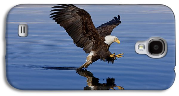 Strong America Galaxy S4 Cases - Reflections of Eagle Galaxy S4 Case by John Hyde - Printscapes
