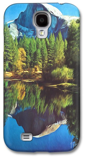 Half Dome Paintings Galaxy S4 Cases - Reflections Galaxy S4 Case by Steve Bailey