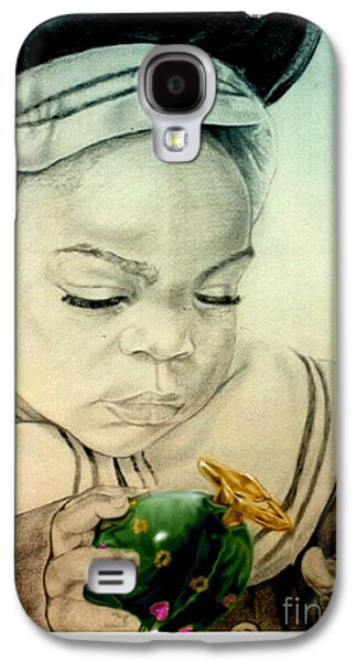 Little Girls Mixed Media Galaxy S4 Cases - Regi Galaxy S4 Case by Reggie Duffie