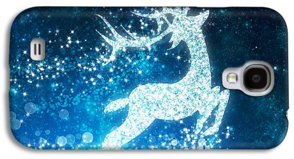 Graphic Photographs Galaxy S4 Cases - Reindeer stars Galaxy S4 Case by Setsiri Silapasuwanchai