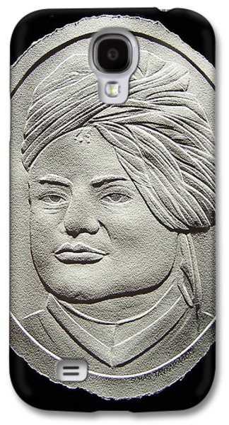 People Reliefs Galaxy S4 Cases - Relief Drawing Of Vivekananda Galaxy S4 Case by Suhas Tavkar