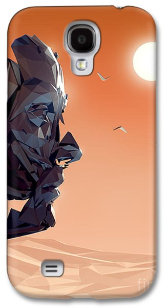 Sunset Abstract Digital Galaxy S4 Cases - Remember Me Sunset Galaxy S4 Case by Pixel Chimp
