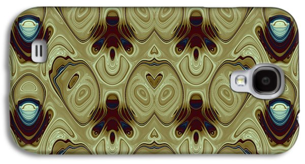 Algorithmic Abstract Galaxy S4 Cases - Repeating Patterns No. 12 Galaxy S4 Case by Mark Eggleston