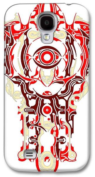 Native Reliefs Galaxy S4 Cases - Requiem VI Galaxy S4 Case by David Umemoto