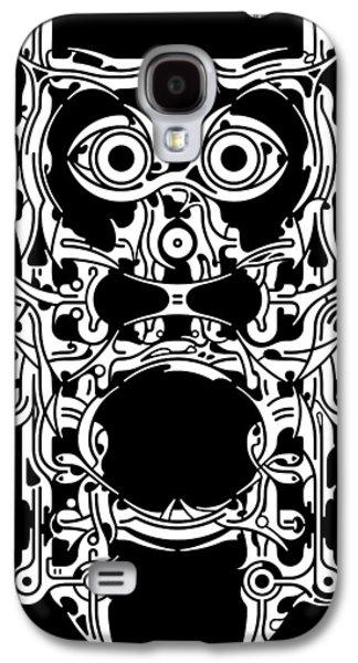 Head Reliefs Galaxy S4 Cases - Requiem VIII Galaxy S4 Case by David Umemoto