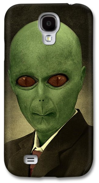 Interplanetary Space Paintings Galaxy S4 Cases - Resident Professor of Interplanetary Research Area 51 Galaxy S4 Case by Movie Poster Prints