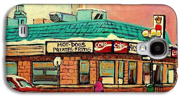 A Hot Summer Day Galaxy S4 Cases - Restaurant Greenspot Deli Hotdogs Galaxy S4 Case by Carole Spandau
