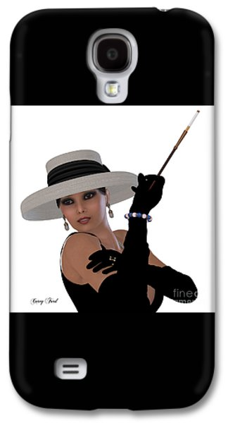 Hairstyle Digital Galaxy S4 Cases - Retro Hollywood Glamour Galaxy S4 Case by Corey Ford