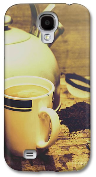 Retro Kettle With The Mug Of Tea Galaxy S4 Case by Jorgo Photography - Wall Art Gallery
