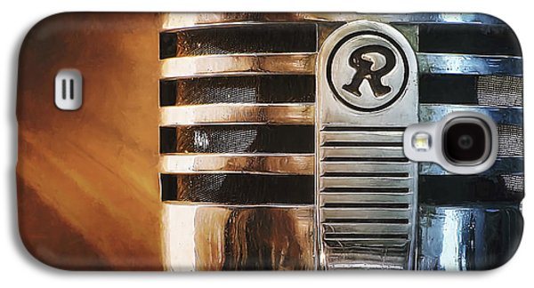 Decor Photographs Galaxy S4 Cases - Retro Microphone Galaxy S4 Case by Scott Norris