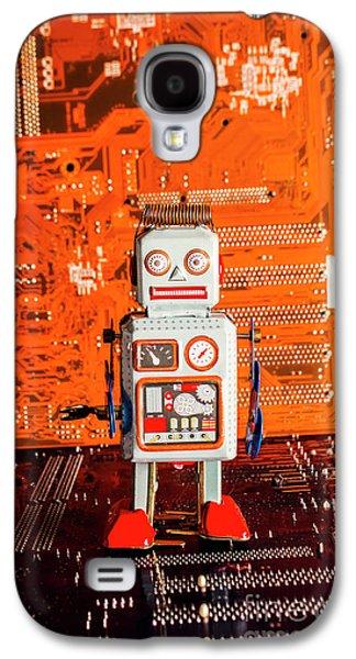 Retro Robotic Nostalgia Galaxy S4 Case by Jorgo Photography - Wall Art Gallery