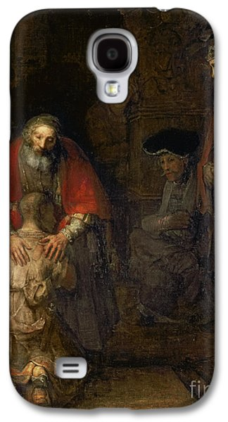 Embracing Galaxy S4 Cases - Return of the Prodigal Son Galaxy S4 Case by Rembrandt Harmenszoon van Rijn