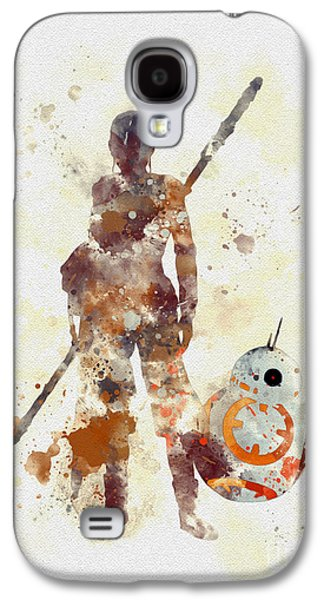 Rey And Bb8 Galaxy S4 Case by Rebecca Jenkins