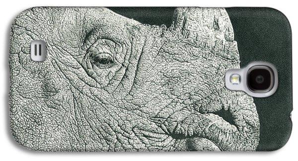 Rhino Pencil Drawing Galaxy S4 Case by Remrov Vormer