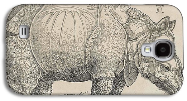 Rhinoceros Paintings Galaxy S4 Cases - Rhinoceros Galaxy S4 Case by Celestial Images