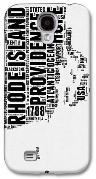 Rhode Island Word Cloud 1 Galaxy S4 Case by Naxart Studio