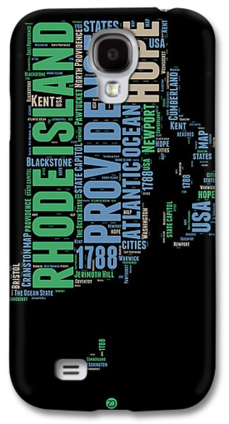 4th Of July Mixed Media Galaxy S4 Cases - Rhode Island Word Cloud 2 Galaxy S4 Case by Naxart Studio